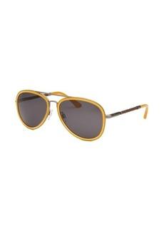 Tod's Women's Aviator Mustard Sunglasses