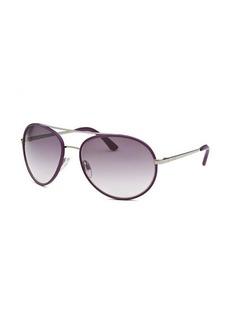 Tod's Women's Aviator Purple Sunglasses