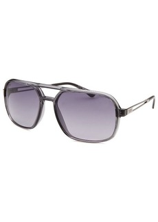 Tod's Women's Aviator Translucent Grey Sunglasses Grey Lenses