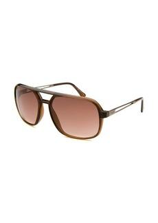 Tod's Women's Aviator Translucent Light Brown Sunglasses