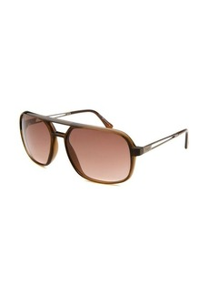 Tod's Women's Aviator Translucent Light Brown Sunglasses