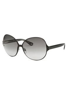 Tod's Women's Butterfly Black Sunglasses Grey Gradient Lenses