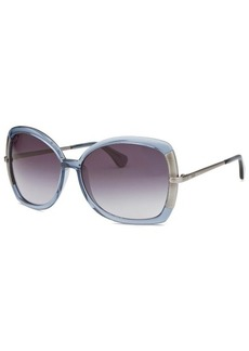 Tod's Women's Butterfly Translucent Blue Sunglasses