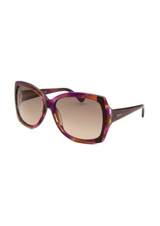 Tod's Women's Butterfly Translucent Multi-Colored Sunglasses