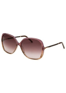 Tod's Women's Butterfly Translucent Purple and Brown Sunglasses