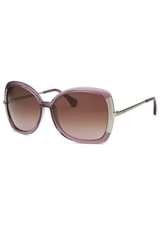 Tod's Women's Butterfly Translucent Purple Sunglasses