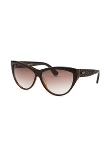 Tod's Women's Cat Eye Brown Sunglasses