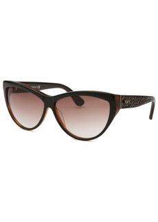 Tod's Women's Cat Eye Brown Sunglasses