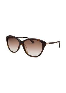 Tod's Women's Cat Eye Havana Sunglasses