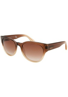 Tod's Women's Cateye Translucent Brown and Sand Sunglasses