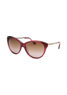 Tod's Women's Donna Cat Eye Translucent Violet Sunglasses