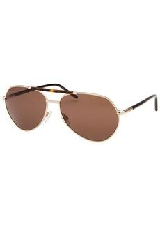 Tod's Women's Gunmetal Aviator Sunglasses