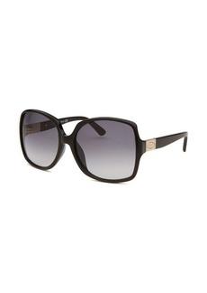 Tod's Women's Oversized Black Sunglasses Blue Gradient Lenses