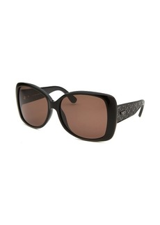 Tod's Women's Oversized Black Sunglasses Brown Lenses
