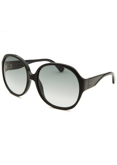 Tod's Women's Oversized Black Sunglasses Green Lenses