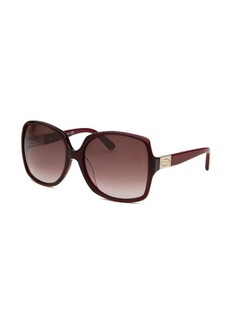 Tod's Women's Oversized Burgundy Sunglasses