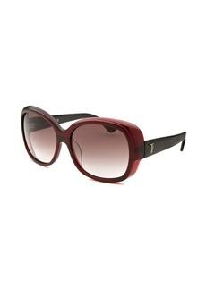 Tod's Women's Oversized Burgundy Sunglasses Dark Tint