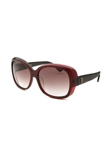 Tod's Women's Oversized Burgundy Sunglasses Dark Tint