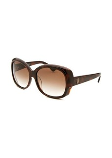 Tod's Women's Oversized Dark Havana Sunglasses