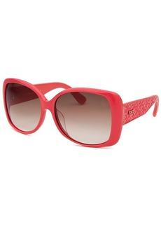 Tod's Women's Oversized Dark Pink Sunglasses
