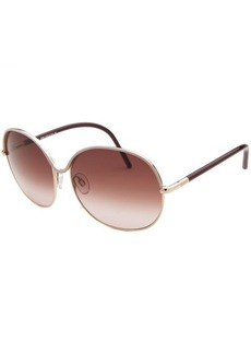 Tod's Women's Oversized Gold Tone Sunglasses