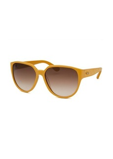 Tod's Women's Oversized Light Brown Sunglasses