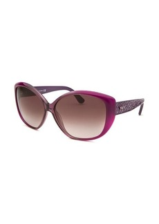 Tod's Women's Oversized Purple and Translucent Purple Sunglasses