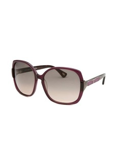 Tod's Women's Oversized Purple Sunglasses