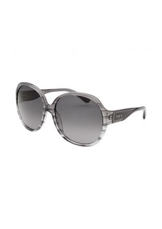Tod's Women's Oversized Striped Translucent Grey Sunglasses