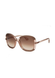 Tod's Women's Oversized Translucent Beige Sunglasses