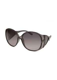 Tod's Women's Oversized Translucent Black Sunglasses