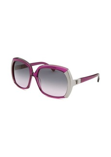 Tod's Women's Oversized Translucent Purple Sunglasses