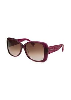 Tod's Women's Oversized Translucent Purple Sunglasses Brown Gradient Lenses