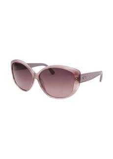 Tod's Women's Oversized Translucent Purple Sunglasses Purple Gradient Lenses