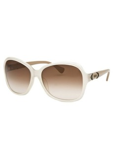 Tod's Women's Oversized Translucent White Sunglasses