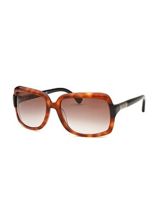 Tod's Women's Rectangle Amber Havana Sunglasses