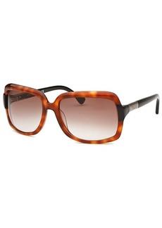 Tod's Women's Rectangle Amber Havana Sunglasses