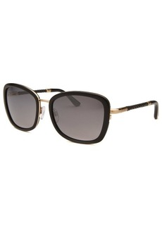 Tod's Women's Rectangle Black and Gold-Tone Sunglasses