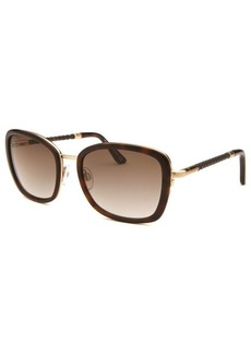 Tod's Women's Rectangle Havana and Gold-Tone Sunglasses