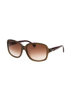 Tod's Women's Rectangle Translucent Brown Sunglasses