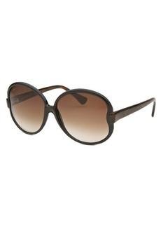 Tod's Women's Round Black and Havana Sunglasses