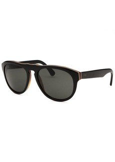 Tod's Women's Round Black Sunglasses