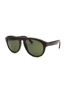 Tod's Women's Round Black Sunglasses