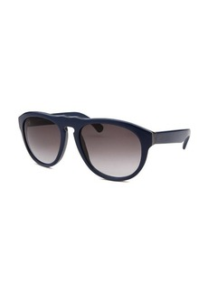 Tod's Women's Round Blue Sunglasses