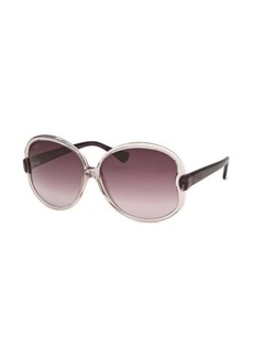 Tod's Women's Round Clear and Purple Sunglasses