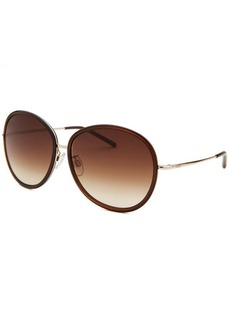 Tod's Women's Round Translucent Brown & Gold-Tone Sunglasses