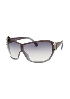 Tod's Women's Shield Brown and Grey Translucent Sunglasses