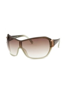 Tod's Women's Shield Brown and Light Green Translucent Sunglasses