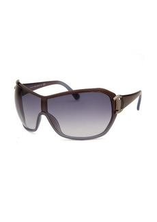 Tod's Women's Shield Translucent Brown and Blue Sunglasses
