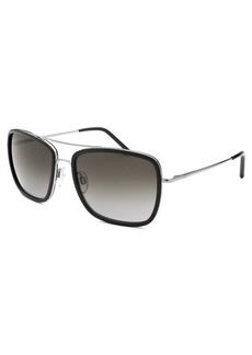 Tod's Women's Square Aviator Black & Silver-Tone Sunglasses